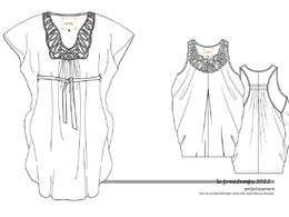 Do an industry standard fashion CAD technical drawing