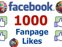 Get you 1000 real high quality facebook likes to your fan page within 24 hours