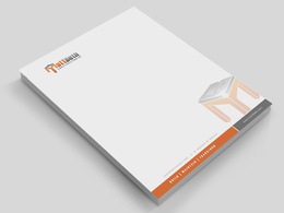 Design a clean, modern Letterhead  with 3 different concepts + MS Word files free