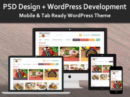 Design & develop an exclusive and full responsive WordPress website