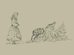 Draw a beautiful vintage illustration