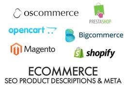 Write 5 product descriptions PLUS meta title & descriptions, fully SEO optimised