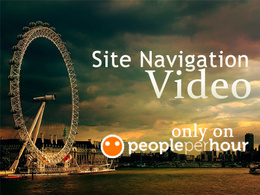 Make a site navigation video with male voice over