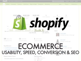 Do a full Usability, Speed & SEO Audit of your Shopify store, inc. recommendations