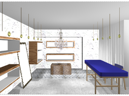 Provide interior design for a room of your choice