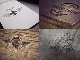 Design 5 realistic mockups of your logo or brand