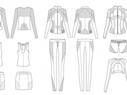 Draw you a technical fashion flat in CAD