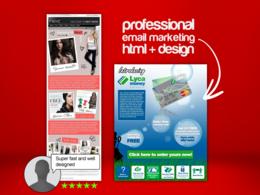 Design + code (HTML) professional email marketing newsletter