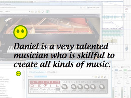 Create an audio track or song for any project