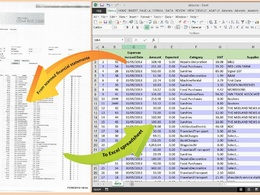 Convert up 100 pages of bank statements to Excel for tax season