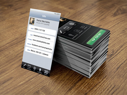 Design an iPhone style Business card for you