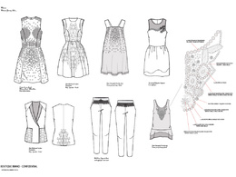 Create fashion design technical drawings from