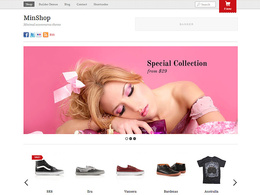 Build a beautiful online shopping website with unlimited products