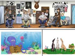 Create a cartoon character design for website / mascot