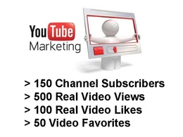 Give 150 youtube channel subscribers, 500 real views, 100 video likes, 50 Favorites