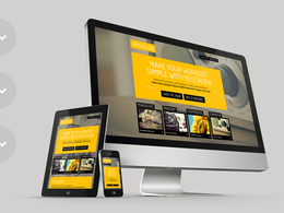 Create a responsive and elegant landing page