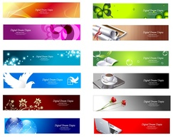 Design an awesome header, banner for your website