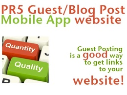 Add your backlink in a guest post or blog post on my PR5 website