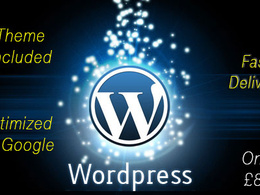 Create a 5-7 page Wordpress site