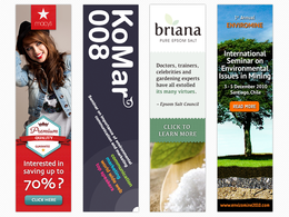Design a professional web banner
