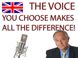 Be the voice that will make the difference. Versatile, Deep, British Voice.