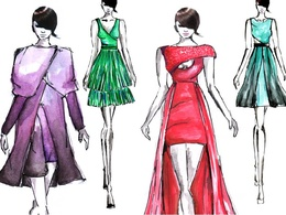Create a fashion illustration plus technical drawing