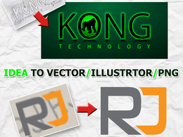 Vectorise your logo or recreate your logo idea in vector