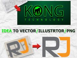 Vectorise your logo or recreate your logo idea in vector