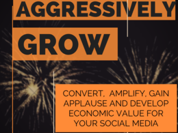 Aggressively grow, market & manage your Social Media accounts for 5 days