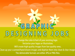 Redesign redraw or vectorise your graphics and logos