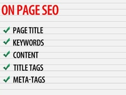 Optimize all onpage SEO elements to improve your rankings on Google