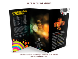 Design beautiful bespoke tri-fold leaflet
