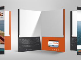 Create a print ready folder design that matches your existing print material