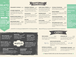 Design a menu for your restaurant / shop / cafe