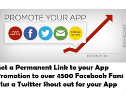 Advertise your Android or iTunes App for life PLUS EXTRAS