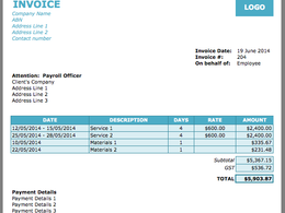 Design a professional and elegant invoice template