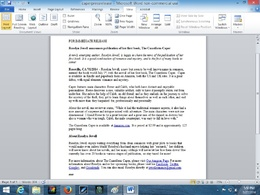 Write a press release for you