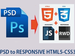 Convert a PSD to responsive HTML5+CSS3(PSD to HTML5 ) webpage using Bootstrap 3 with