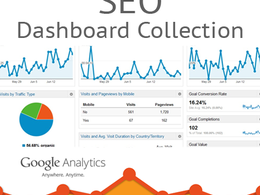 Setup a range of custom SEO dashboard reports into your Google Analytics