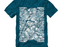 Create doodle illustration for t-shirt and other merchandise