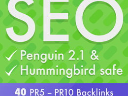 Create 40 Google friendly SEO backlinks to help increase your website's ranking