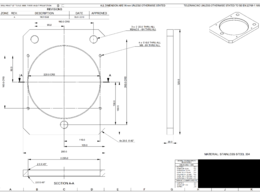 Create a technical drawing