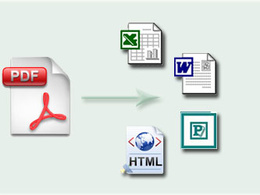 Convert PDF to microsoft application or vice versa