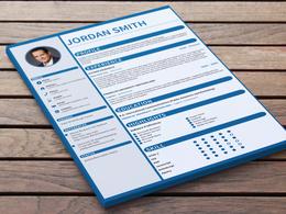 Design a clean, modern Resume/CV +portfolio+cover letter