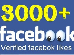 Add 3000 Genuine Facebook likes