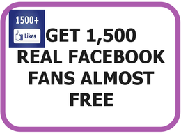 Get you 1500 and more real Facebook fan page likes