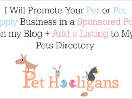 Promote your pet or pet supplies business via a sponsored post + directory listing