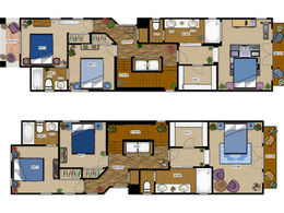 Make a high quality 2D colored floor plan of your property