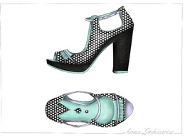 CAD your shoe design in top and side view