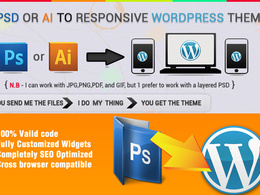 Convert PSD To Wordpress Responsive
